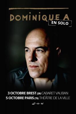 Dominique A en concert solo au Théâtre de La Ville
