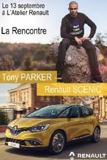 Tony Parker en dédicace à L'Atelier Renault