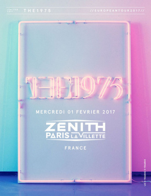 The 1975 en concert au Zénith de Paris en 2017