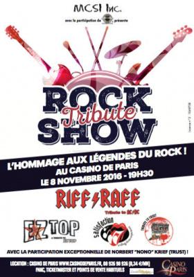 Rock Tribute Show au Casino de Paris en novembre 2016
