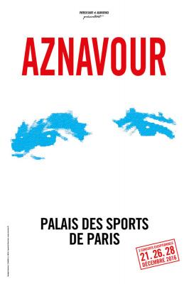 Charles Aznavour en concerts au Palais des Sports de Paris en décembre 2016
