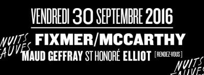 Lutece : Fixmer/Mccarthy en live au club Nuits Fauves