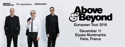 Above & Beyond en concert à l'Elysée Montmartre de Paris en décembre 2016