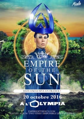 Empire of The Sun en concert à l'Olympia de Paris en octobre 2016