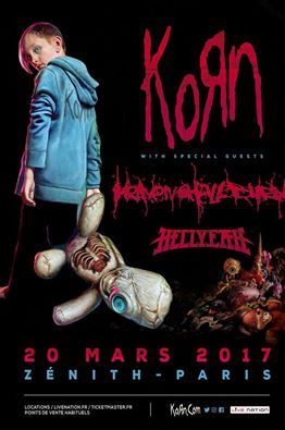 Korn en concert au Zénith de Paris en mars 2017