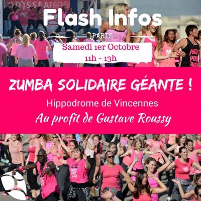 Zumba solidaire géante à l'Hippodrome de Vincennes