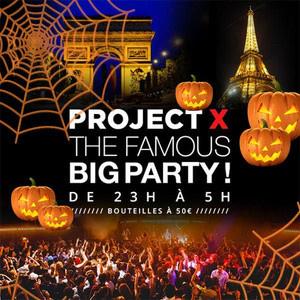 Projet X Halloween 2016 au Redlight