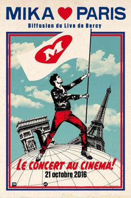 """Mika et son concert """"Paris je t'aime"""" au cinéma le 21 octobre 2016"""