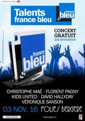 Concert des Talents France Bleu 2016 aux Folies Bergère de Paris