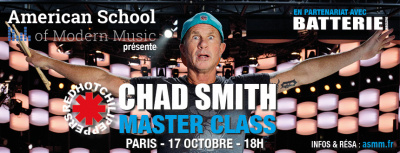 chad smith en masterclass la petite halle de la villette paris. Black Bedroom Furniture Sets. Home Design Ideas