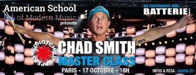 Chad Smith en masterclass à La Petite Halle de La Villette à Paris