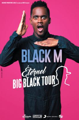 Black M en concert à l'AccorHotels Arena de Paris en 2017