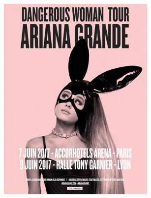 Ariana Grande en concert à l'AccorHotels Arena de Paris en 2017