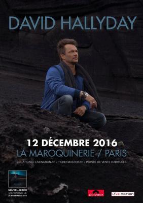 David Hallyday en concert à La Maroquinerie de Paris en décembre 2016