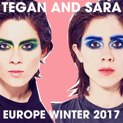 Tegan and Sara en concert à l'Elysée Montmartre de Paris en février 2017