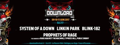 Download Festival Paris 2017 : Prophets of Rage, Linkin Park, Blink 182 rejoignent la programmation