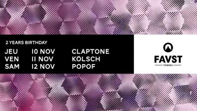 Faust fête ses 2 ans avec Claptone, Kölsch et Popof