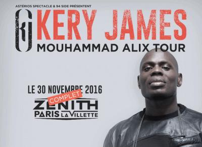 Kery James en concerts à l'Olympia de Paris en mars 2017