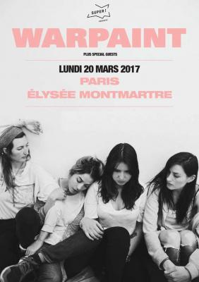 Warpaint en concert à L'Elysée Montmartre de Paris en mars 2017