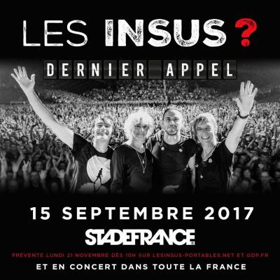 Les Insus en concert au Stade De France en septembre 2017