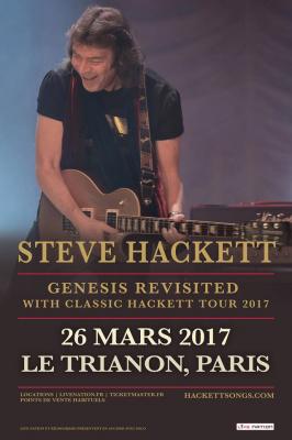 Steve Hackett en concert au Trianon de Paris en mars 2017