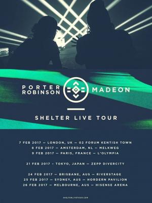 """Porter Robinson et Madeon à l'Olympia de Paris en 2017 pour le """"Shelter Live Tour"""""""