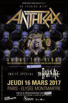 Anthrax en concert à L'Elysée Montmartre de Paris en mars 2017