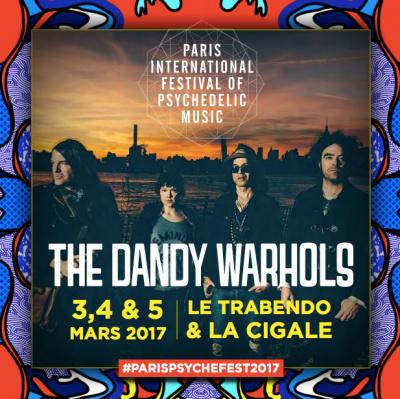 The Dandy Warhols en concert à La Cigale de Paris en mars 2017