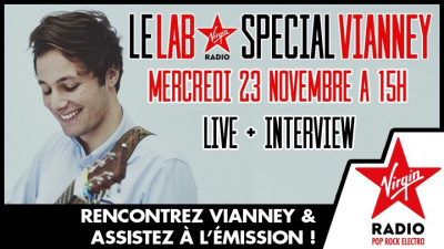 Vianney en concert et rencontre au Lab Virgin Radio