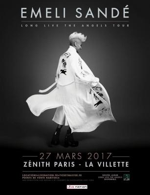 Emeli Sandé en concert au Zénith de Paris en mars 2017