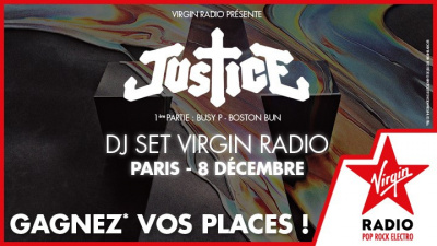 Justice en DJ Set à Paris