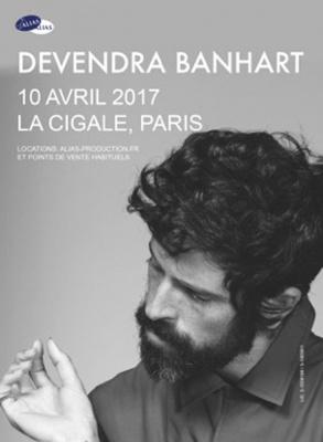Devendra Banhart en concert à La Cigale de Paris en 2017