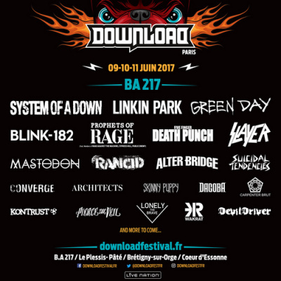 Download Festival Paris 2017 : Slayer, Mastodon, Rancid… rejoignent la programmation