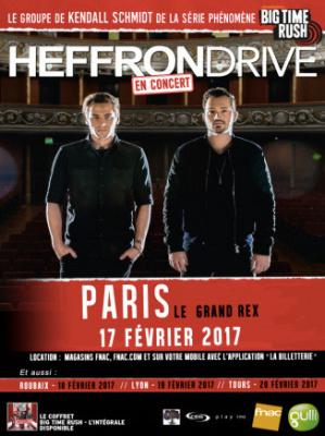 Heffron Drive en concert au Grand Rex de Paris en février 2017