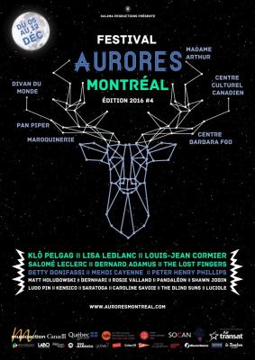 Festival Aurores Montréal 2016 à Paris : dates, programmation et réservations