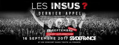 Les Insus en concerts au Stade De France en septembre 2017