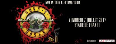 Guns N'Roses en concert au Stade de France en juillet 2017
