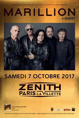 Marillion en concert au Zénith de Paris en octobre 2017