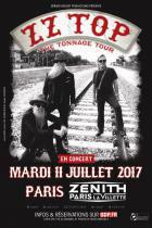 ZZ Top en concert au Zénith de Paris en juillet 2017