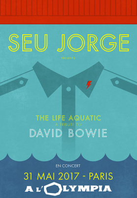 "Seu Jorge présente ""The Life Aquatic, A Tribute To David Bowie"" à l'Olympia de Paris en mai 2017"