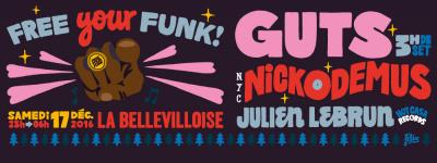 Free Your Funk : Christmas Party à La Bellevilloise