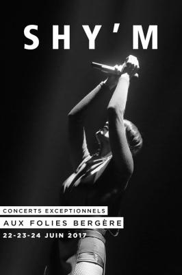 Shy'm en concerts aux Folies Bergère de Paris en 2017