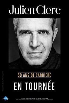 Julien Clerc en concert à Paris pour ses 50 ans de carrière