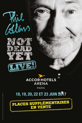 Phil Collins en concerts à l'Arena Bercy de Paris en juin 2017