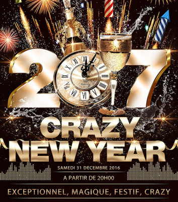 Réveillon 2017 à Paris : Crazy New Year 2017 au 3 Club