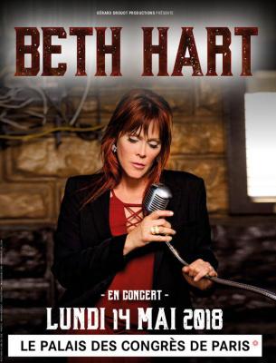 Beth Hart en concert au Palais des Congrès de Paris en 2018