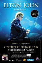 Elton John en concert à l'Arena Bercy de Paris en 2017