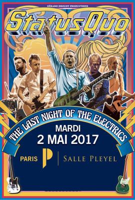 Status Quo en concert à La Salle Pleyel de Paris en mai 2017