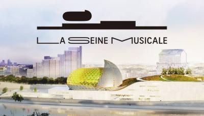 Ouverture de La Seine Musicale sur l'île Seguin à Boulogne en avril 2017
