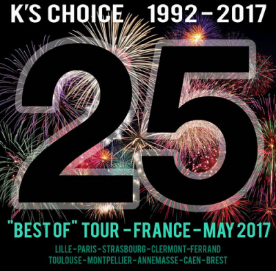 K's Choice : 25 ans – The Best of Tour, en concert à L'Elysée Montmartre de Paris en mai 2017